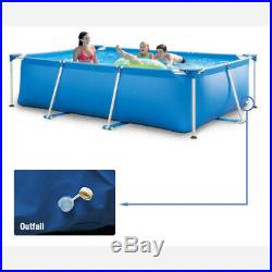 Swimming Pool Rectangular Frame Durable Steel Garden Family Outdoor 450x220x84CM