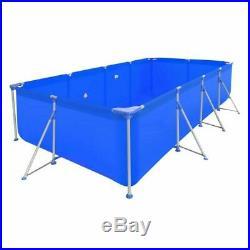 Swimming Pool Steel Frame Rectangular Outdoor Garden Above Ground Outdoor Spa UK