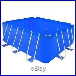 Swimming Pool Steel Rectangular 400x207x122cm 8870 L Above Ground Outdoor Spa UK