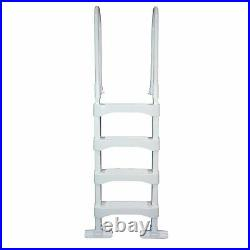 Vinyl Works SLD2 Resin 60 Inch Above Ground Swimming Pool Step Ladder, White