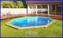 Weva Octo 530 Above Ground Octagonal 5.28m Wooden Swimming Pool