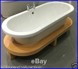 XD11 Bathroom Roll Top Double Ended Bath Raised Floor BCH Platform with-out Tap